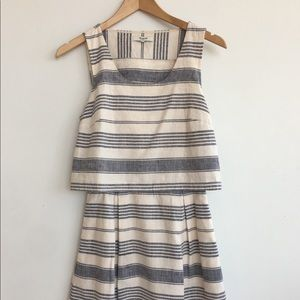 Madewell: Striped Open-Back Overlay Dress